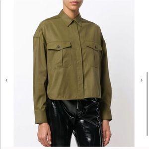 Rag & Bone Green Button Down Shirt